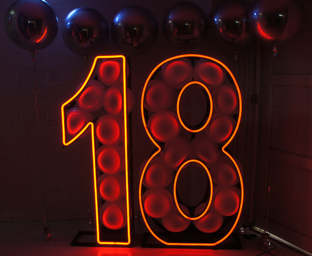 Epic Party Hire Neon LED Numbers