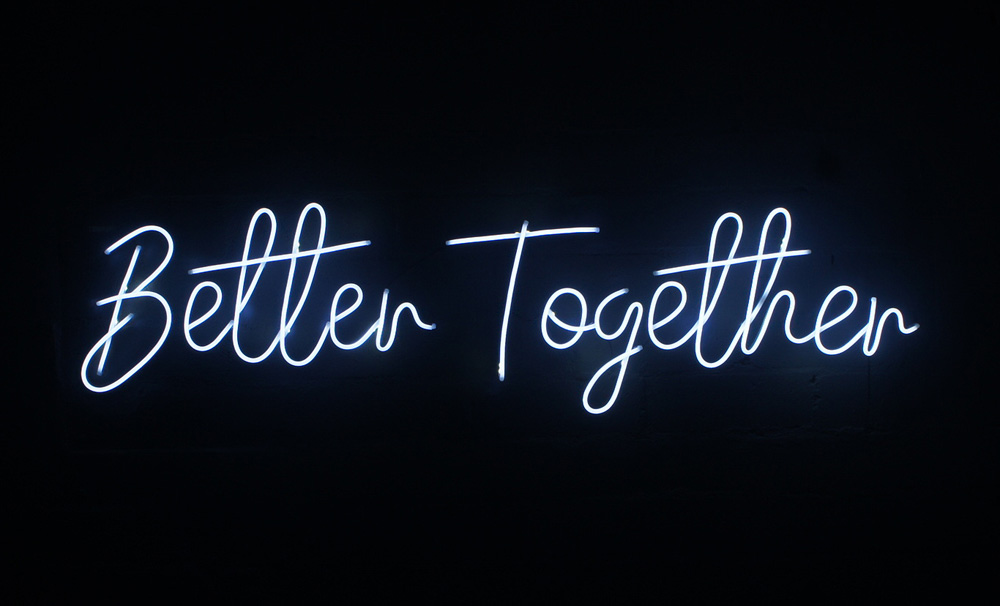 Epic Party Hire Neon LED Signs Better Together