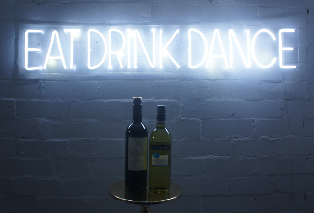 Epic Party Hire Neon LED Signs Eat Drink Dance