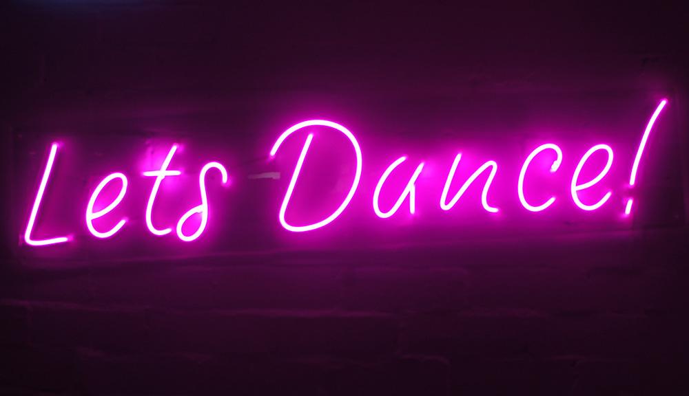 Epic Party Hire Neon LED Signs Let's Dance