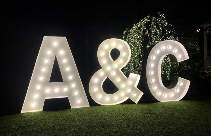 Epic Party Hire giant letters numbers 2