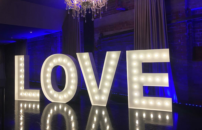 Epic Party Hire giant letters numbers love