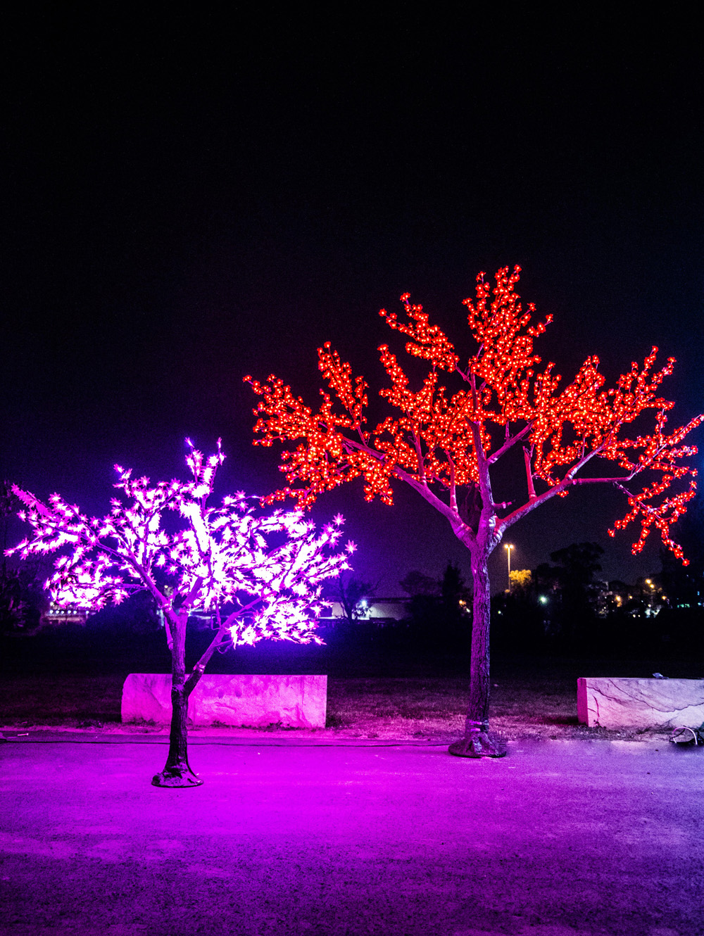 Epic Party Hire Neon LED Trees